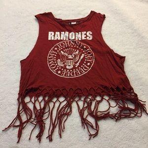 Ramones Muscle Tee w/ Fringe